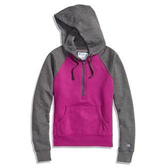 Champion Women\'s Powerblend Fleece Half Zip Hoodie W3325