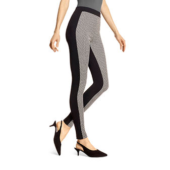 HUE Glitz Check Leggings U18081