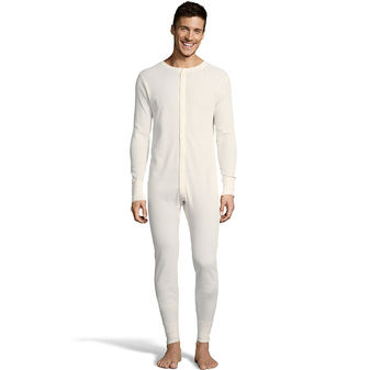 Hanes Men\'s Solid Waffle Knit Thermal Union Suit 3X-4X 125447