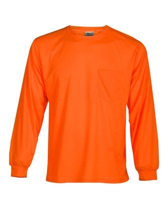 Kishigo Microfiber Polyester Long Sleeve T-Shirt 9122-9123