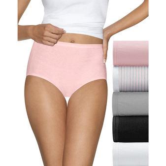 Hanes Ultimate™ Comfort Cotton Women\'s Brief Panties 5-Pack 40HUCC
