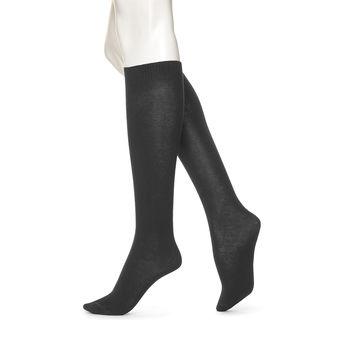 HUE Women\'s Flat Knit Knee-High Socks U5573