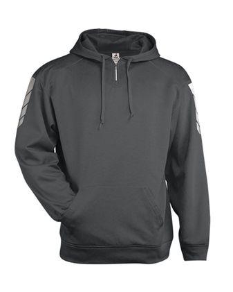 Badger Metallic Fleece Hooded Sweatshirt 1428