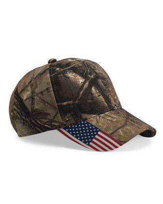 Outdoor Cap Camo Cap with Flag Visor CWF305