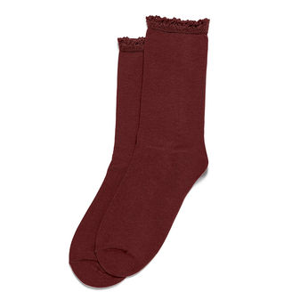 HUE Women\'s Lace Trim Socks U16283