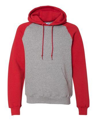 Russell Athletic Dri Power® Colorblock Raglan Hooded Sweatshirt 693HBM