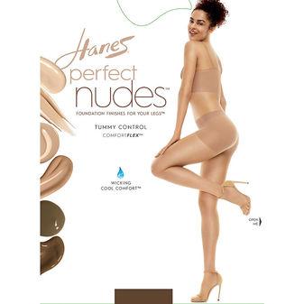 Hanes Perfect Nudes™ Run Resistant Tummy Control Girl Short Hosiery PN0001