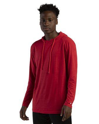 Badger Tri-Blend Surplice Hooded Long Sleeve T-Shirt 4905