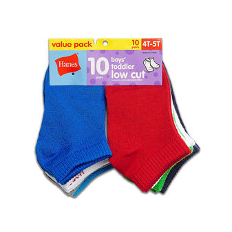 Hanes Boys\' Infant/Toddler Low Cut 10-Pack 28/10
