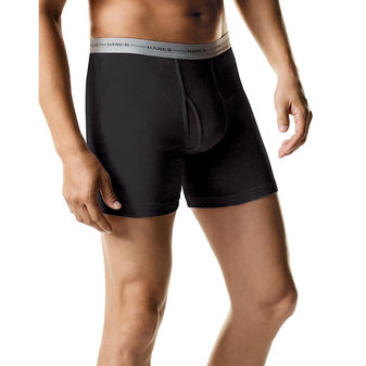 Hanes ComfortSoft TAGLESS Men\'s Boxer Briefs 2-Pack