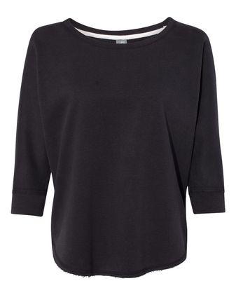 J. America Women\'s Lounge Fleece Dolman Crewneck Sweatshirt 8685