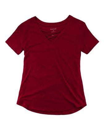 Boxercraft Women\'s Cage Front T-Shirt T27