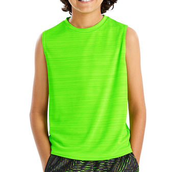 Hanes Sport Boys\' Sleeveless Heathered Tech Tee OD180