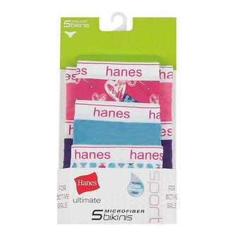 Hanes Ultimate® Girls\' Sport Microfiber Bikinis 5-Pack GPSMK5