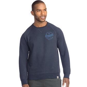 Hanes Men\'s 1901 Heritage Graphic Fleece V-notch Crewneck Sweatshirt OP8345 Y07088