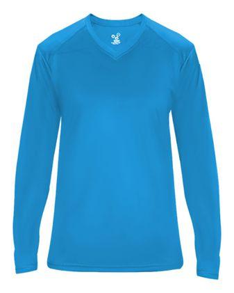 Badger Ultimate SoftLock™ Women\'s V-Neck Long Sleeve T-Shirt 4064