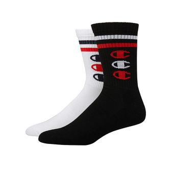Champion Men\'s Performance Crew Socks, Vertical C Logo, 2-Pack