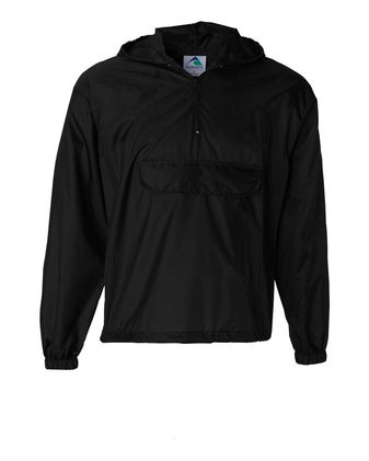 Augusta Sportswear Packable Half-Zip Hooded Pullover Jacket 3130