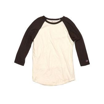 Champion 100% Cotton Ring Spun Slub Baseball T-Shirt CP75