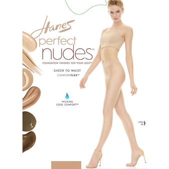 Hanes Perfect Nudes Sheer to Waist Run Resistant Light Tummy Control Hosiery PN0002