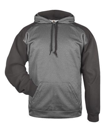 Badger Sport Heather Tonal Hooded Sweatshirt 1449