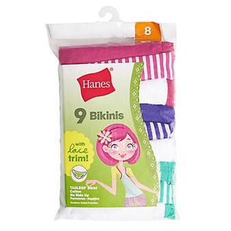 Hanes Girls Bikini Lace Panty 9-Pack GWLKP9