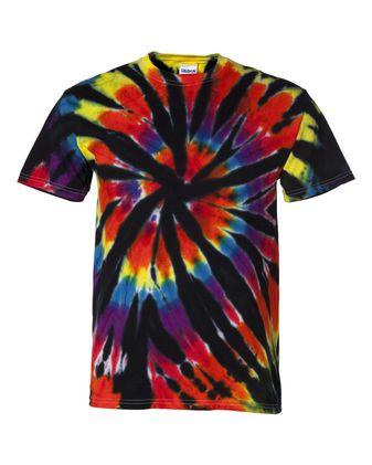 Dyenomite Short Sleeve Rainbow Cut-Spiral T-Shirt 200TD