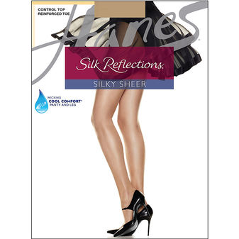 Hanes Silk Reflections Control Top Reinforced Toe 6-pack C06718