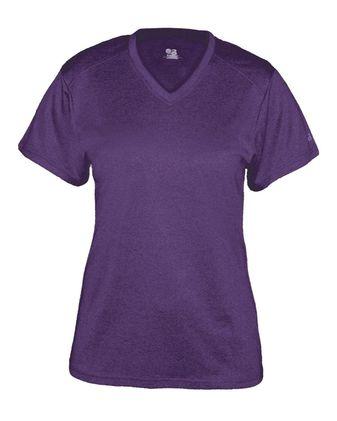 Badger Women\'s Pro Heather V-Neck T-Shirt 4362