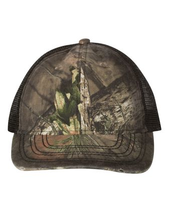 Outdoor Cap Oil Stained Camo Trucker Cap OSC100M