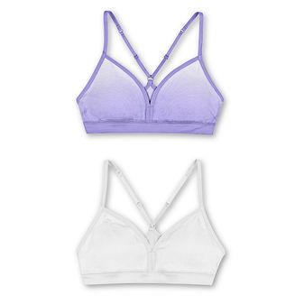 Hanes Girls\' ComfortFlex Fit® Pullover Bra with Adjustable Racerback Straps 2-Pack MHH198