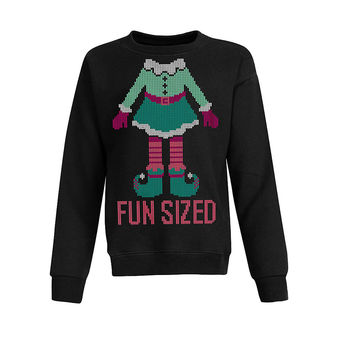 Hanes Girls Ugly Christmas Sweatshirt OK923