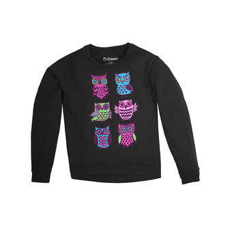 Hanes Girl\'s Hi-Low Crew Sweatshirt K352