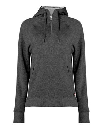 Badger FitFlex Women\'s French Terry Hooded Quarter-Zip 1051