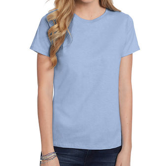 1bb23775 Hanes Womens Relaxed Fit Jersey ComfortSoft Crewneck T-Shirt 5680 ...