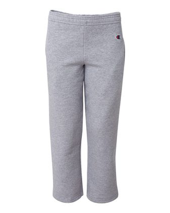 Champion Double Dry Eco Youth Open Bottom Sweatpants with Pockets P890
