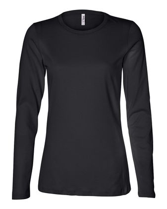 BELLA + CANVAS Women\'s Relaxed Jersey Long Sleeve Tee 6450
