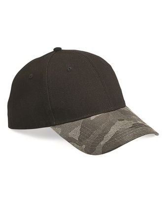 Outdoor Cap Canvas Crown Cap with Weathered Camo Visor GHP100