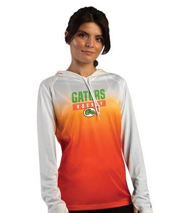 Badger Women\'s Ombre Long Sleeve Hooded T-Shirt 4208