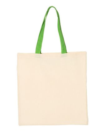 Q-Tees Economical Tote with Contrast-Color Handles QTB6000