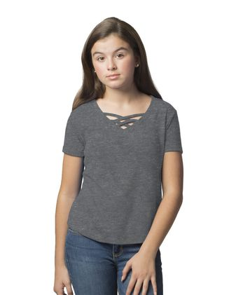 Boxercraft Girls Caged Front Tee YT27