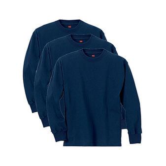 Hanes Boys\' ComfortSoft Long Sleeve Tee Value Pack O5546 B01K35QZMI 3PK