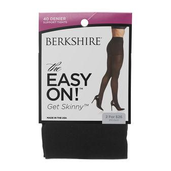 Berkshire Get Skinny! Microfiber Shaper No Waistband Control Top Graduated Compression Tight 4257