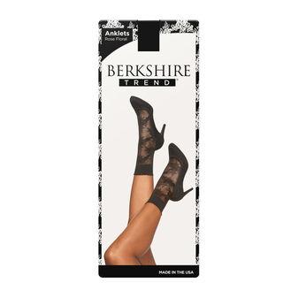 Berkshire Plus Size Scallop Top Rose Floral Anklet 5222