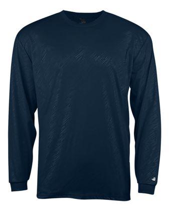 Badger Line Embossed Long Sleeve T-Shirt 4145