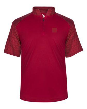 Badger Sport Stripe Quarter Zip T-Shirt 4132
