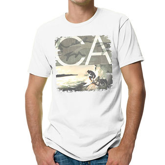 Hanes Mens Sandwashed CA Graphic Tee Shirt GT49A/V4