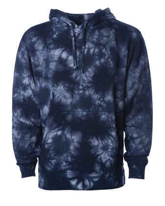 Independent Trading Co. Midweight Tie-Dye Hooded Sweatshirt PRM4500TD