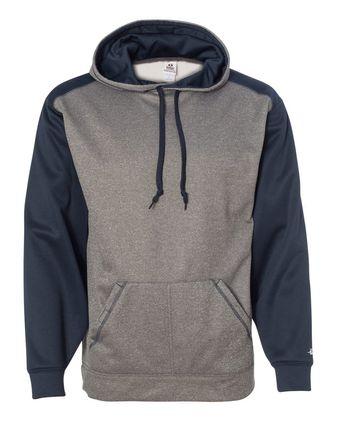 Badger Pro Heather Colorblocked Hooded Sweatshirt 1468