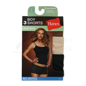 Hanes Seamless Boy Short 3 pair 49SBWP